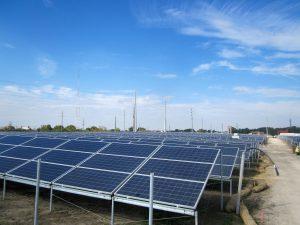 First solar farm